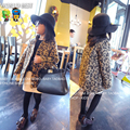 Children's Winter Jackets High Quality Leopard Print Woolen Overcoat Girls Winter Coat All Children's Clothes And Accessories