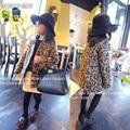 Children's Winter Jackets High Quality Leopard Print Woolen Overcoat Girls Winter Coat All Children's Clothes And Accessories
