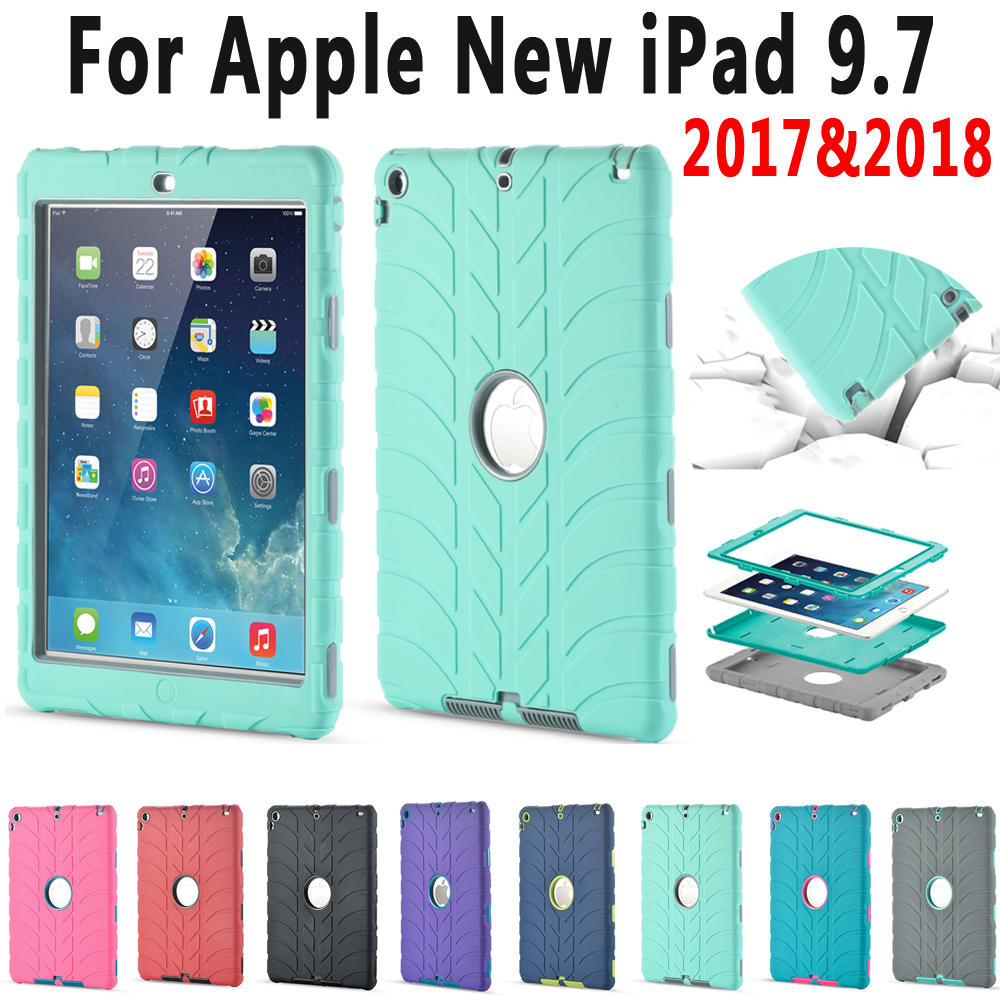Armor Heavy Duty Tire Pattern Case for Apple New iPad 9.7 2017 2018 A1822 A1823 A1893 5th 6th Generation Cover Coque Capa FundaArmor Heavy Duty Tire Pattern Case for Apple New iPad 9.7 2017 2018 A1822 A1823 A1893 5th 6th Generation Cover Coque Capa Funda