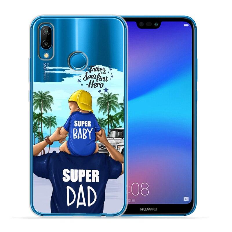 Чехол для телефона с черными и коричневыми волосами для мамы и дочки Huawei P30 Lite P30 Pro P20 Lite P8Lite P9Lite P10 P Smart Capa - Цвет: 11