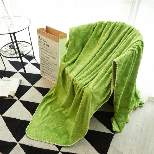 Pearl Blanket Gr Green Pattern Sofa Decorative Slipcover Throws On Bed Plane Travel