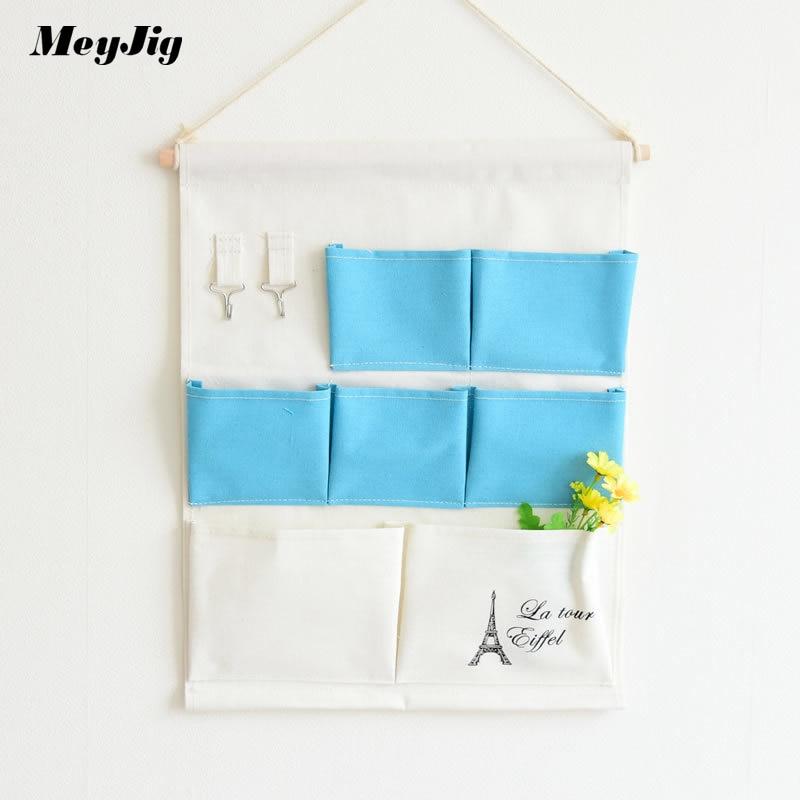 Meyjig 7 Pocket Home Multi-functional Wardrobe Behind Doors Multi-storey Storage Bag Sundries Organizer Wall Hanging Bag 0845
