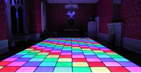 Rasha Jump Price 1M*1M DMX512 80W 432pcs 10mm LED Dance Floor for Wedding Party Karaoke DJ Nightclub Entertainment Stage Light