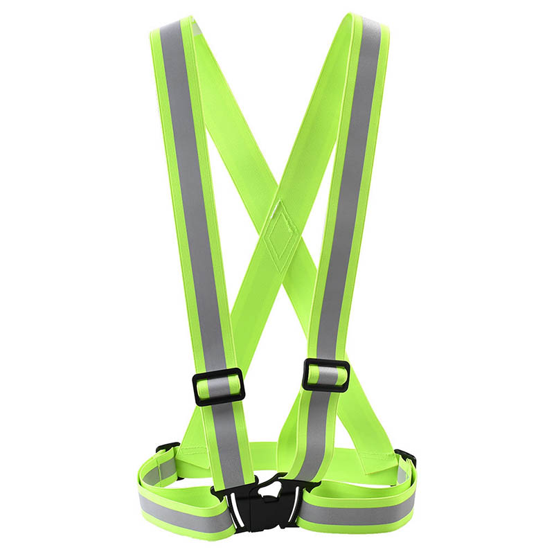 Unisex High Visibility Glow Reflective Tape Vest Waistcoat Fluorescent Belt Outdoor Sports Safety Workplace Safety Supplies