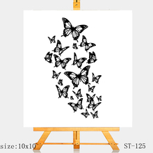 AZSG Beautiful butterfly Clear Stamps/Silicone Transparent Seals for DIY scrapbooking Card Making