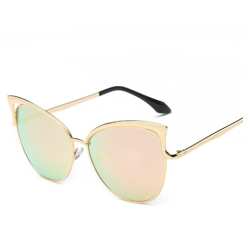 Metalowe różowe okulary Cat Eye Okulary przeciwsłoneczne damskie - Akcesoria odzieżowe - Zdjęcie 6