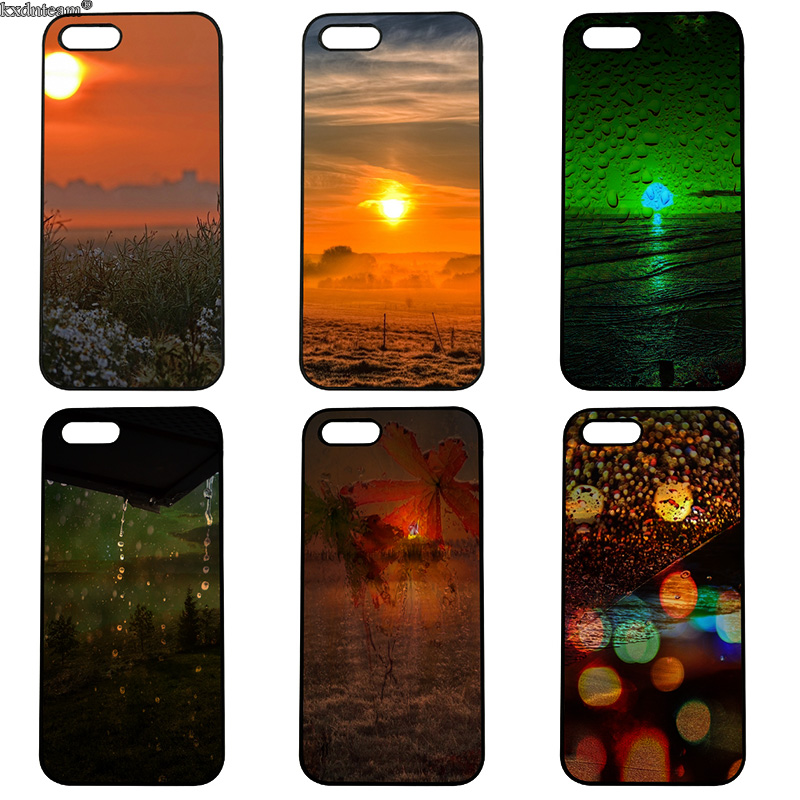 Sea Level Sunrise Scenery Hard PC Phone Cases Cover Fitted for iphone 8 7 6 6S Plus X 5S 5C 5 SE 4 4S iPod Touch 4 5 6 Shell