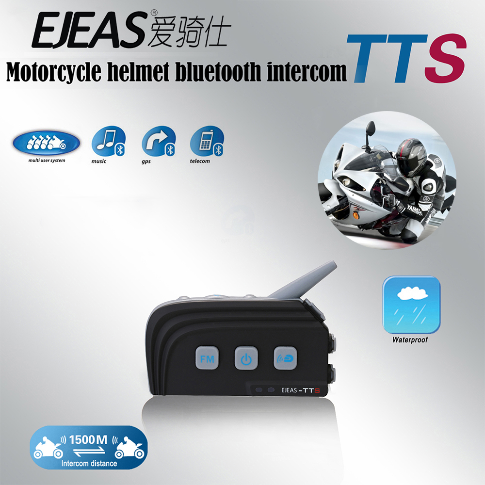 EJEAS 1pc Casco Ejeas TTS Dual BT Intercom Motorcycle Interphone Headset 300hrs Standby Fast Pairing For Ktm Helmet