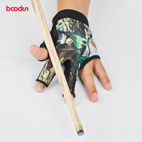 New 1080 Billiard Gloves Snooker Billiard Cue Glove Leica High Elastic Billiard Gloves Silicone Anti Slip Wear 3 Finger Gloves
