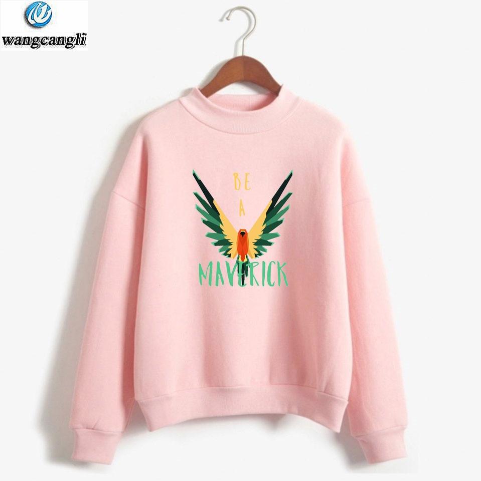 Maverick Bird Printed Hoodies Sweatshirt Men/Women Streetwear Turtleneck Hoodie Casual Plus Size Tracksuit Tops Brand Clothes