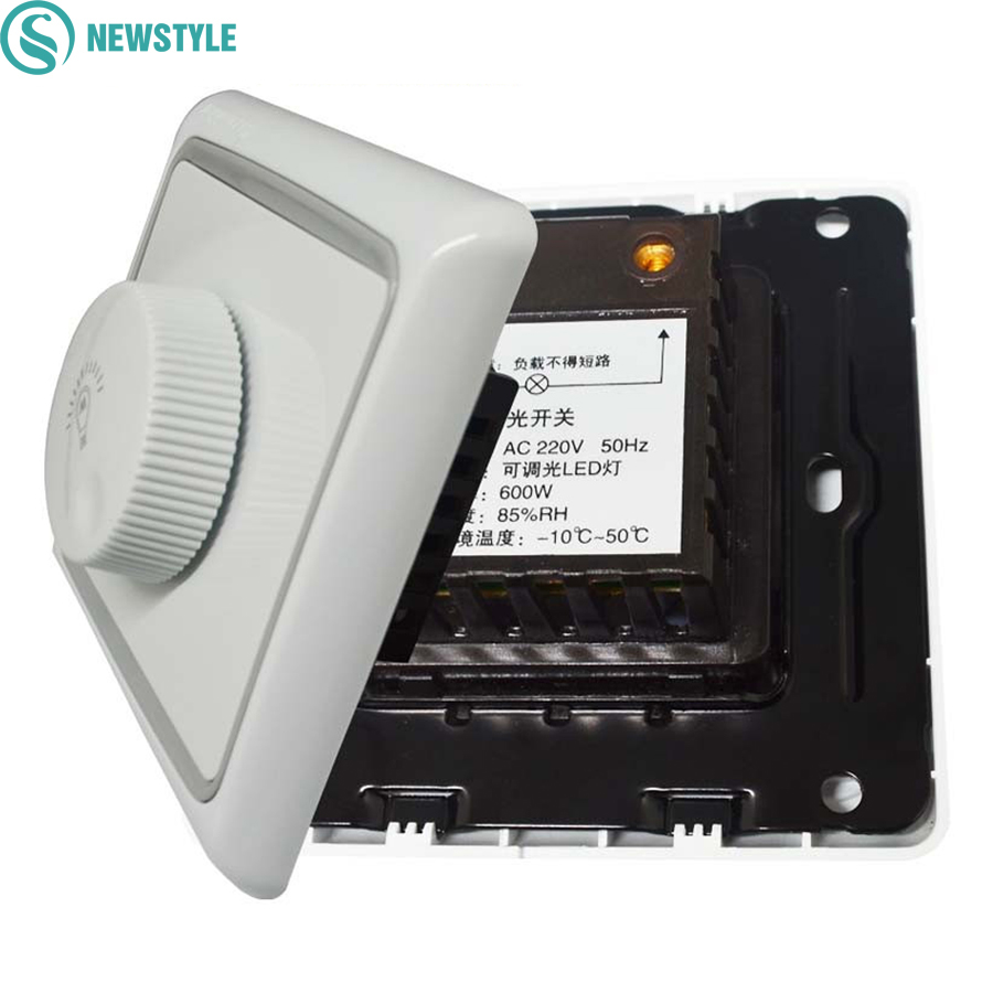 Led Triac Dimmer Switch 600w Ac 220v For Dimmable Basic Light Circuit Diagram Brightness Dimmers Adjustable Lights