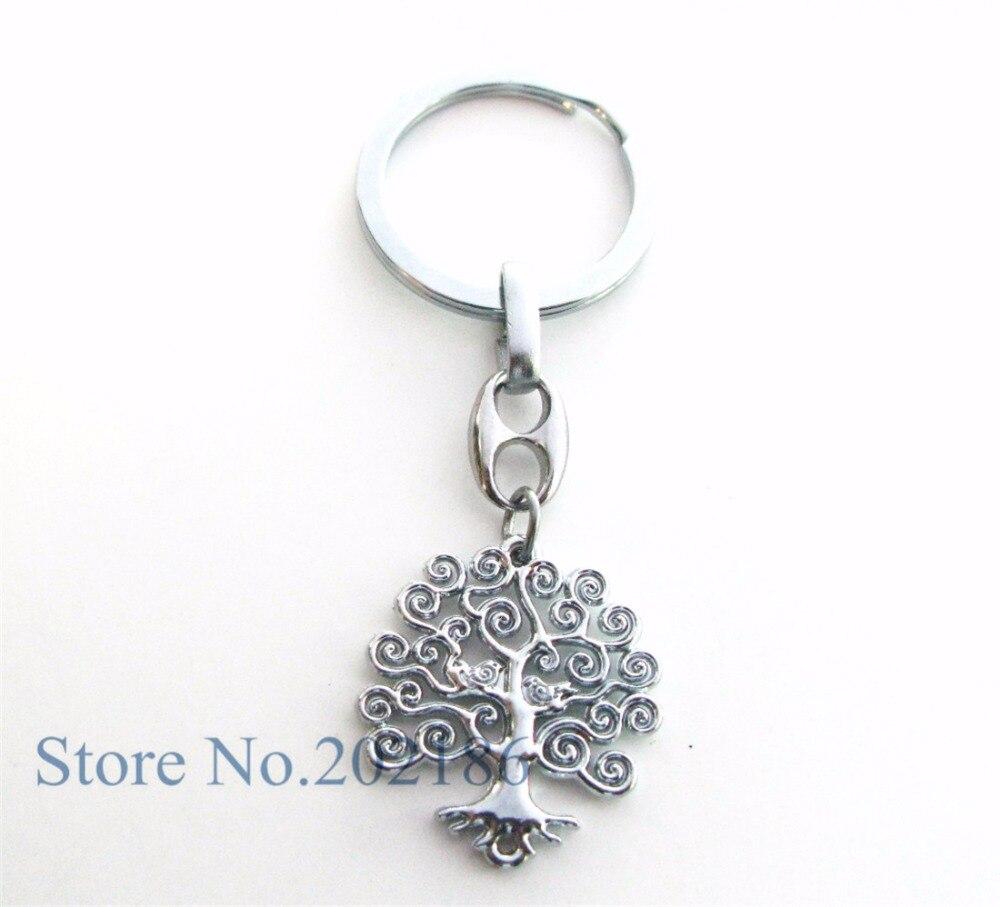 1 unid moda Árbol de la vida colgante encanto cadena llavero trinket  hombres Accesorios mujeres joyas regalos Navidad partido dce985f4ac1