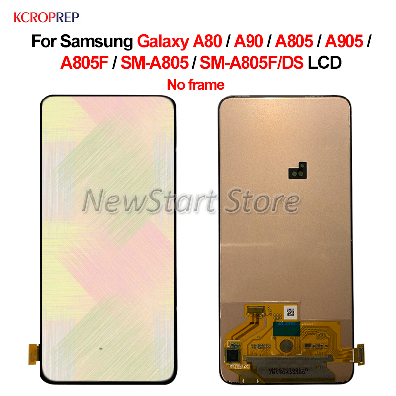 Super Amoled For <font><b>Samsung</b></font> <font><b>Galaxy</b></font> <font><b>A80</b></font> A90 A805 A905 <font><b>LCD</b></font> Display Touch Screen Digitizer For <font><b>Samsung</b></font> A805F SM-A805 SM-A805F/DS <font><b>lcd</b></font> image