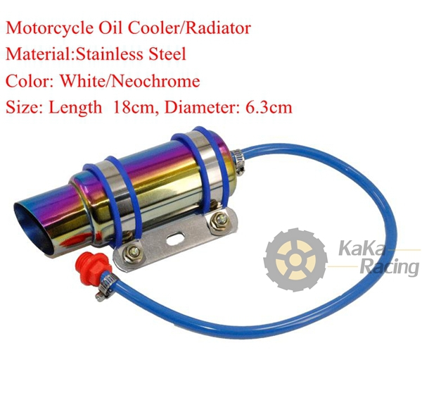 Modified Motorcycle Oil Cooler Radiator Stainless Steel
