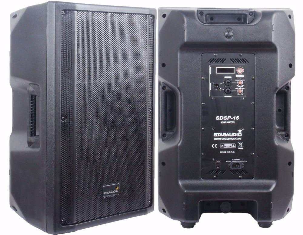 STARAUDIO SDSP-15 1Pc Pro 4500 Watts 15 Powered Active Stage PA DJ KTV Karaoke 4 Ohm DSP Speaker