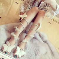 Women Shoes High Heels Bow Knot Crystal Shoes Women Gladiator Sandal Women Boots Snake Flats Shoes