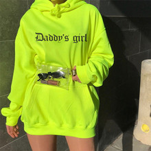 Winter New Women's Fluorescent Color Hooded Printing In The