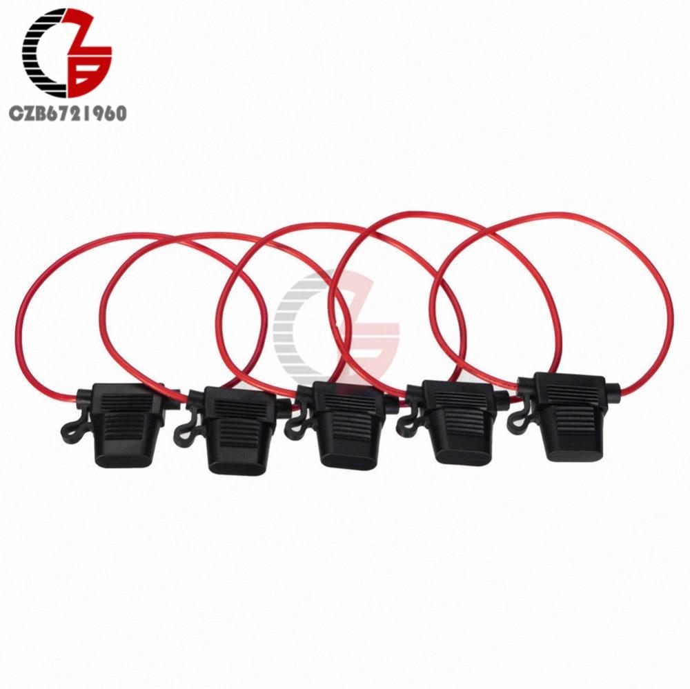medium resolution of 5pcs in line standard car blade fuse holder splash proof fuse box for 12v 30a fuses
