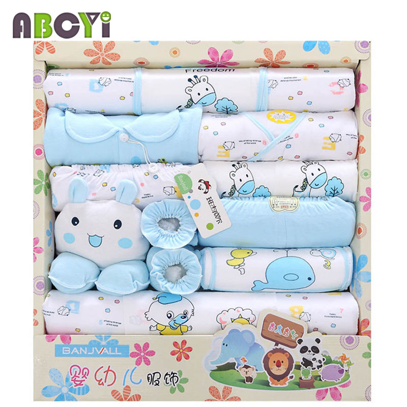 5 Styles! New 100% Cotton 18pcs Baby Clothing sets Infant ...