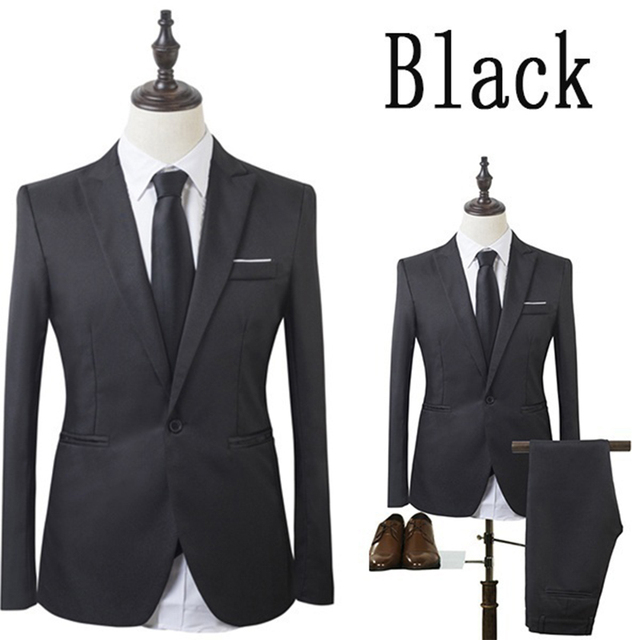 Zogaa High Quality Business Suit New Men Business Slim Sets Wedding Dress Suit Blazers Coat Trousers Waistcoat Trousers XS-3XL