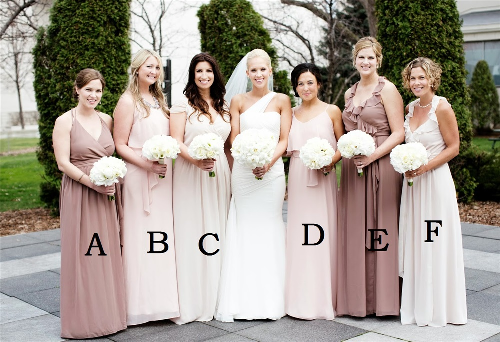 New Gorgeous Peach Color Plus Size Chiffon Maid Of Honor Dresses
