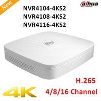 Original Export Version DAHUA NVR4104 4ks2 NVR4108 4ks2 NVR4116 4ks2 Smart 1U Mini NVR H 265