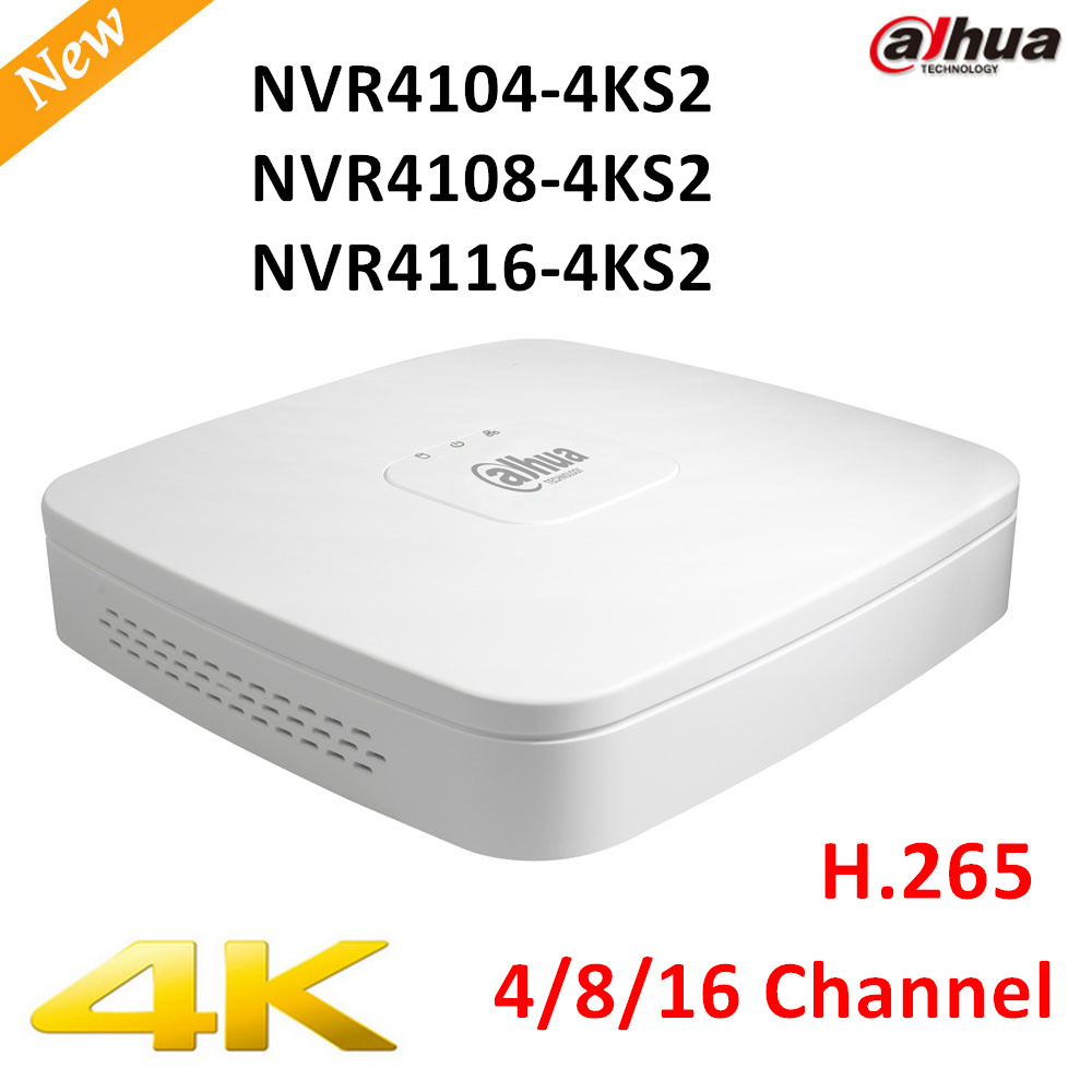 Original Export Version DAHUA NVR4104-4ks2 NVR4108-4ks2 NVR4116-4ks2 Smart 1U Mini NVR H.265 8mp 4ch/8ch/16ch NVR Without logo