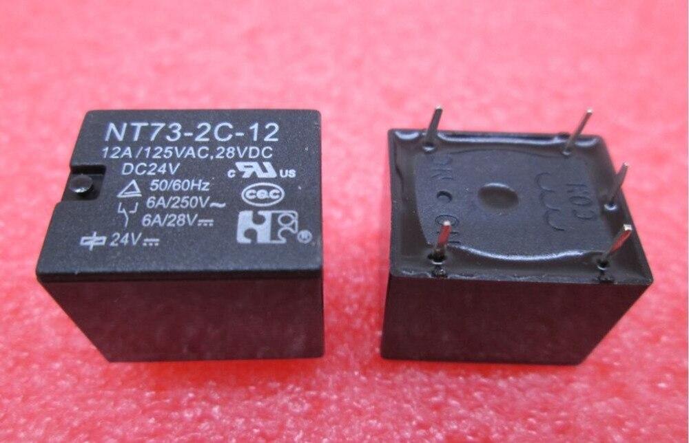 HOT NEW relay NT73-2C-12-DC24V NT73-2C-12 DC24V NT732C12 NT73-2C NT73 DC24V 24VDC 24V DIP5 tiit aleksejev valge kuningriik