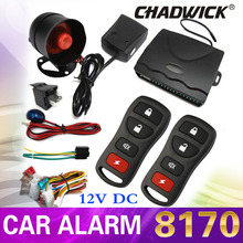 CHADWICK 8170 1-Way Car Alarm Protection Security System Keyless Entry Siren 2 Remote Control auto styling foot brake lock door uxcell 2 way car alarm vehicle security system pager lcd remote control keyless entry