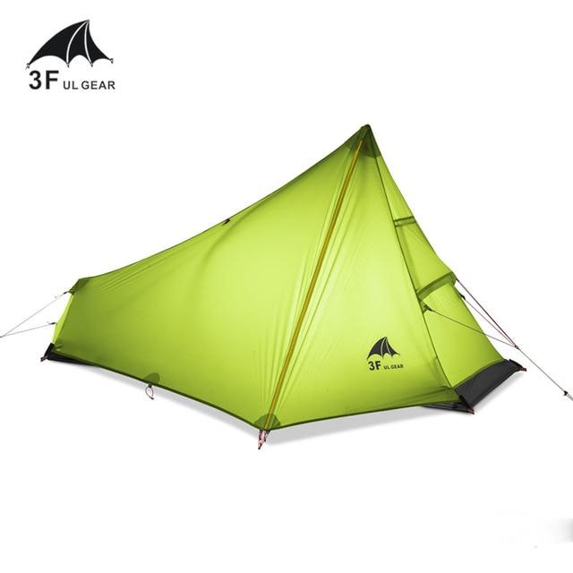 3F UL Ultralight Tent 740g 3 Season 1 Single Person Professional 15D Nylon Silicon Coating