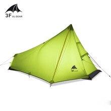 3F UL GETRIEBE 740g Oudoor Ultralight Camping Zelt 3 Saison 1 Einzelne Person 15D Nylon Silikonbeschichtung Kolbenstangenlosen zelt