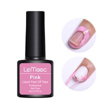 LEMOOC 8ml Peel Off Liquid Tape Nail Gel Polish Protected Finger Skin Cream White Pink Odor-free Cuticle Guard Care