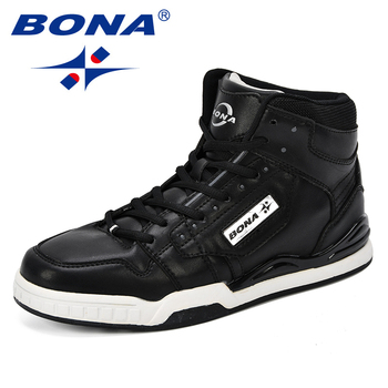 BONA New Arrival Classics Style Men Skateboarding Shoes Action Leather Sport Outdoor Jogging Free Shipping - discount item  34% OFF Sneakers