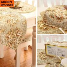 New Arrival European Modern Luxury Embroider Table Mats Dish Mat Coasters Chair Tissue Cover Home Decor Garden