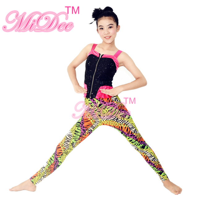 a5a3fa1a7 Sequins Sling Jacket Hip Hop Dance Costume Girls Gymnastics Leotards ...