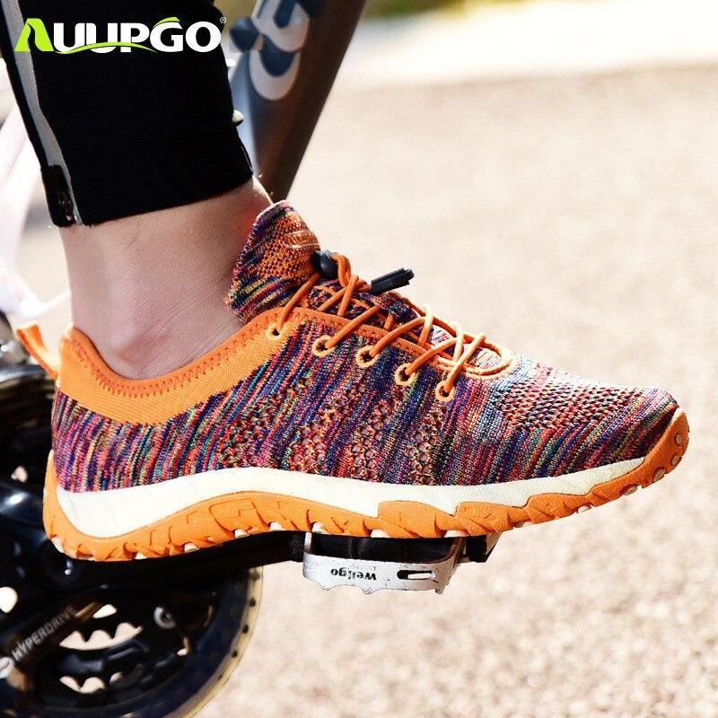 Auupgo Non lock men women leisure cycling shoes road bike MTB mountain bike shoes sports hiking
