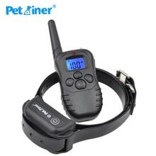 Petrainer 998DB 1 300M şarj edilebilir su geçirmez uzaktan kumandalı köpek eğitim yaka ile köpek elektrik çarpması yaka lcd ekran