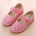Crianças meninas sandálias de verão 2017 da princesa shoes recortes cinta flor menina ballet shoes primavera bebê shoes