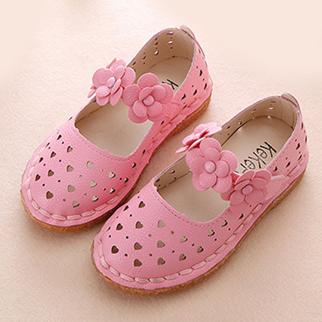Kids Girls Sandals 2017 Summer Princess Shoes Flower Strap Girl Ballet Shoes Spring Cutouts Baby Shoes