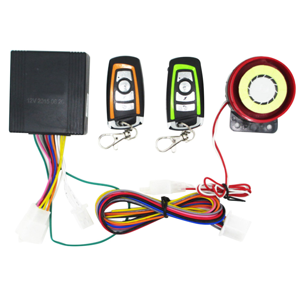 Universal Motorcycle Alarm System Scooter Anti-theft Security Alarm System With Engine Start Remote Control Key