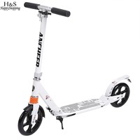 Children Kick Scooter Wheels Adjustable Aluminum Alloy T Style Design Sturdy Lightweight Foldable Foot Scooter Clearance