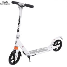 Enfants adultes trottinette 2 roues Pliable Réglable En Alliage D'aluminium T-Style Conception Robuste Léger Heigh musculation