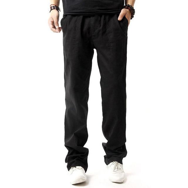 5XL Anti-Microbial Healthy Linen Pants Men  1