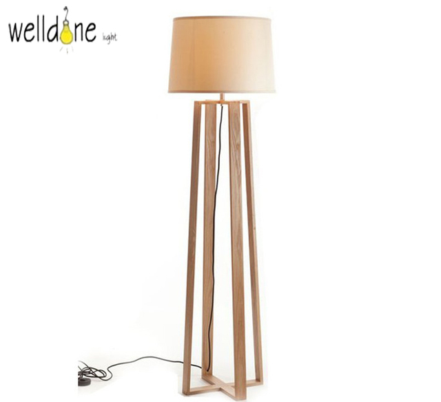The Nordic minimalist wooden floor lamp NEW Japanese living room ...