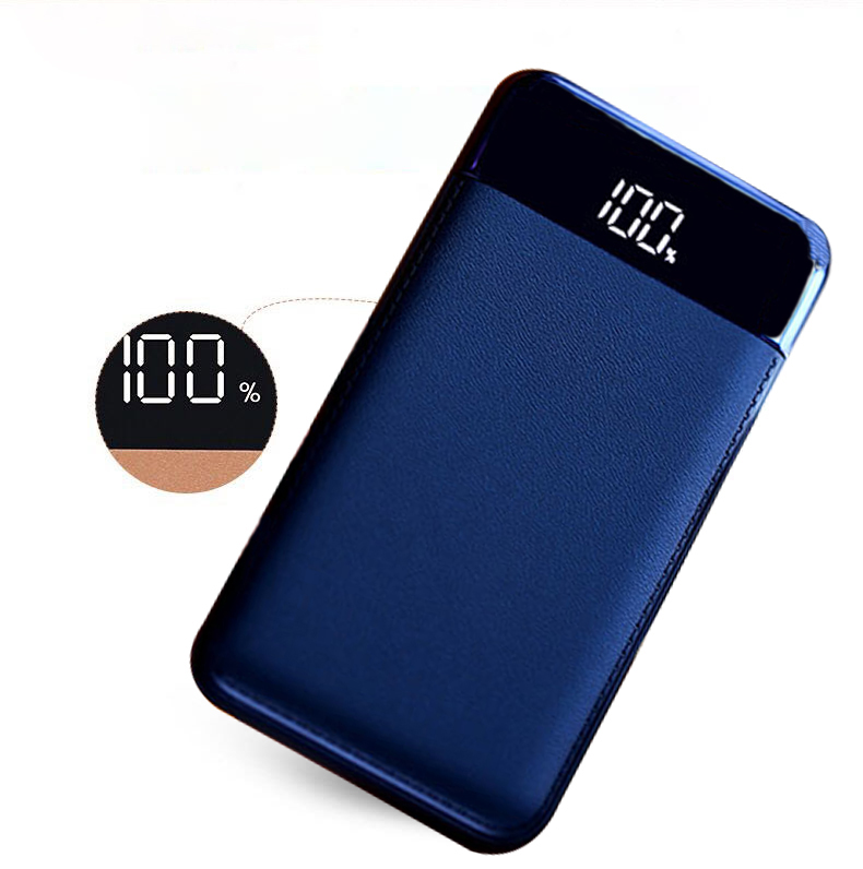 New LCD 20000mah Power Bank 2USB external mobile Quick charger Power Bank battery Portable power bank for phone 18650