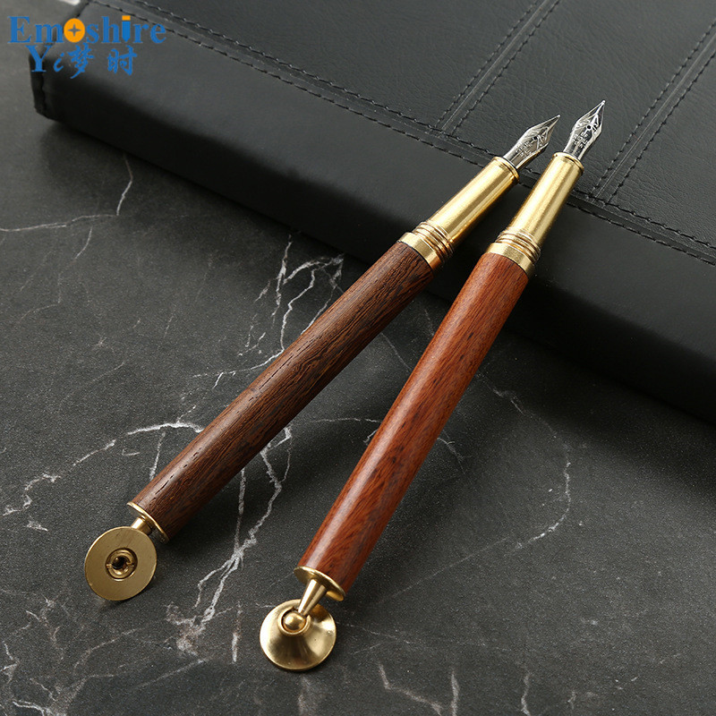 Brass Wooden Fountain Pen Business Creative Gift Metal Advertising Signature Ink Pen Wholesale Customizable Fountain Pen P462 kaigelu extreme series premium fountain pen ink pen business gift pen