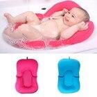 Infant Newborn Baby Bath Tub Pillow Pad Lounger Air Cushion Floating Soft Seat bathtub support