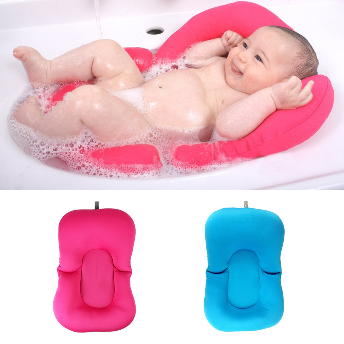 online buy wholesale baby lounger from china baby lounger  - infant newborn baby bath tub pillow pad lounger air cushion floating softseat bathtub support(