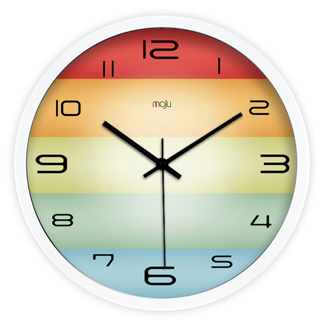 Large Decorative Metal Wall Clock Home Decor Relogio Parede Saati De ...