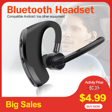 цена на V8 Bluetooth Earphone Business Wireless Headset V9 Bluetooth Headphone Handsfree with Mic for Driving Car Wok for iPhone Samsung